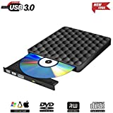 Grabadora DVD Externo Portatil,USB 3.0 Lector CD DVD Regrabadora Disco para PC Windows7/8/10,Linux,Mac OS
