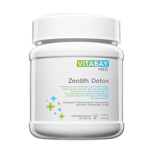 Zeolith Detox Pulver - Medizinprodukt zur Entgiftung 95% Klinoptilolith 500 g (Die Gesundheit Der Leber Formel)