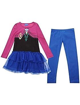 Frozen - Die Eiskönigin Set Kleid und Leggings Kostüm