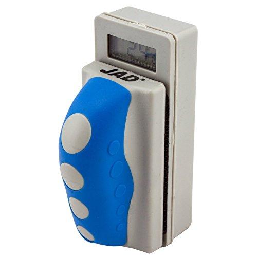 JAD WD-802 Aquarium Magnet Scheibenreiniger mit integriertem Thermometer Größe M Stärke bis 0,95cm Scheibenputzer Reinigungsmagnet digitales Thermometer