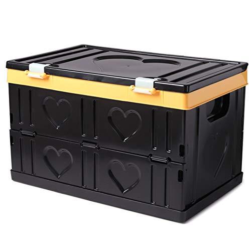 MYJZY Zusammenklappbare Kofferraum-Organizer und Aufbewahrung, Auto-Aufbewahrungsbox, Organizer mit großer Kapazität Perfekt für SUVs, Fahrzeuge, Familien-Vans und Camps,Schwarz,M -