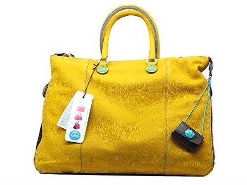 Borsa Gabs modello Shopping WEEK FRFR in pelle colore giallo trasformabile Giallo