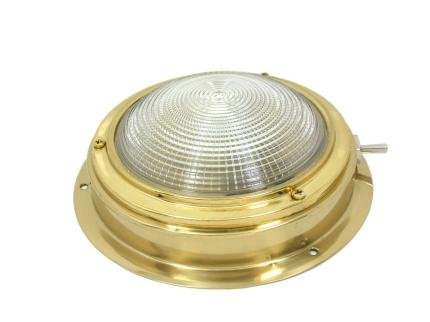 Brass 100mm Boat Cabin Dome Light Test