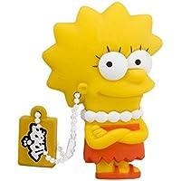 Tribe FD003404 Simpson Springfield Pendrive 8 GB Simpatiche Chiavette USB Flash Drive 2.0 Memory Stick Archiviazione Dati, Portachiavi, Lisa Simpson, Giallo