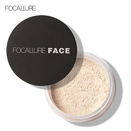 Loose Powder - 24 Stunden Dauerhaftes Anti-Sweat Loose Powder Oil Control Breathable Makeup Pulver (1# Elfenbein (Weiße Pulver Make Up Gesichts)