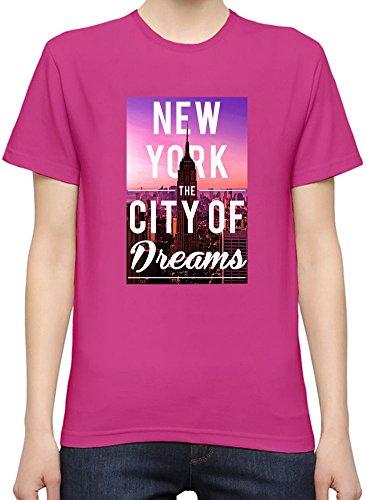 New York The City Of Dreams Kurzarm-T-Shirt für Frauen XX-Large