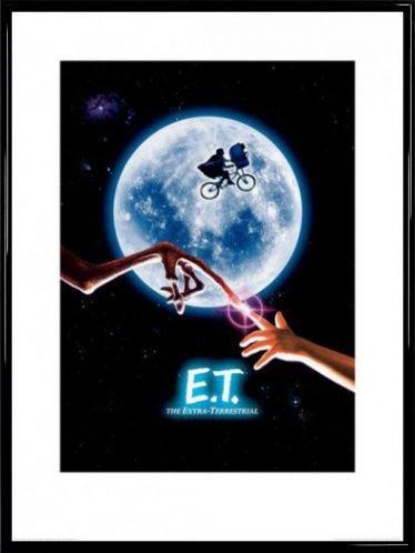1art1 E.T. - Der Außerirdische Poster Kunstdruck und Kunststoff-Rahmen - Filmplakat (80 x 60cm)