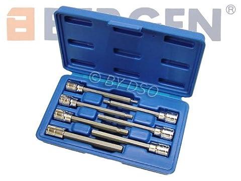 Bergen Long 7pc 3/8 HEX BIT SOCKET SET 3-10mm allen key B1123 by Bergen