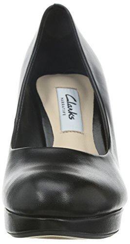 Clarks Crisp Kendra, Escarpins femme Noir (Black Leather)