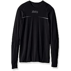 JAKO Kinder Longsleeve Comfort Basic-Underwear, schwarz, 116/128