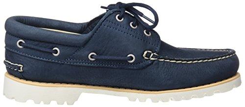 Timberland Chilmark 3-Eye Handsewn, Mocassins (Loafers) Homme Bleu (Midnight Navy Barefoot Buffed 431)