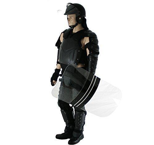 Polizei Körperpanzerung Schutzanzug bestehend aus Protektoren Schutzanzug,Schutzhelm und Abwehrschild (XL)