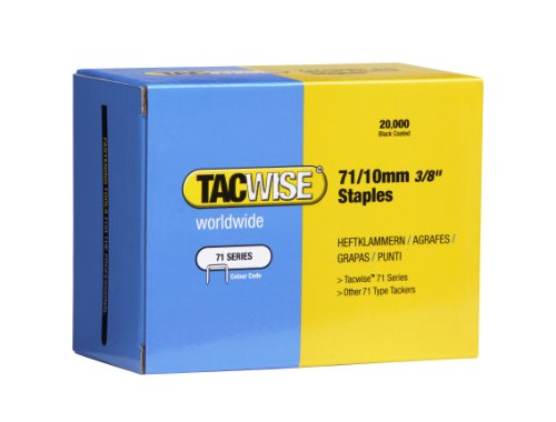 Tacwise 0375 Lot de 20000 Agrafes en Acier Inox 71/10 mm