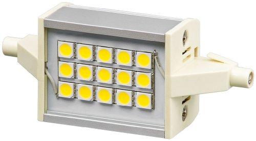 4-r7s Sockel (5er Set LED Stab 4 W Sockel R7s, ersetzt 30 W, 78 mm breit, 300 Lumen warm-weißes Licht mit 2700 K)