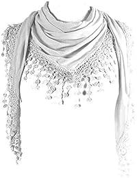 d4addb2eab2 Amazon.fr   Blanc - Echarpes et foulards   Accessoires   Vêtements