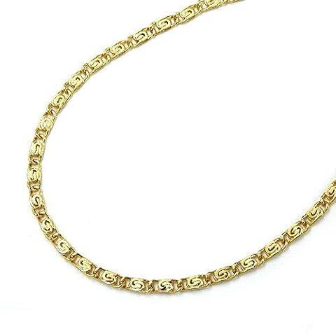 Unbespielt Goldkette Schmuck Damen Collier Halskette Kette S Panzerkette 45 cm x 1,2 mm aus 585 Gelbgold 14 kt sehr