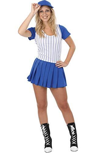 Baseball Mädchen Kostüm für Karneval Verkleidung Mottoparty Damen Medium (Baseball Kostüm Kind)