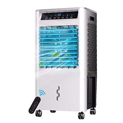 WEWE Portátil Evaporativo con Enfriador De Aire,Ajustable Remote Control Ventilador Sin Aspas Led Pantalla...