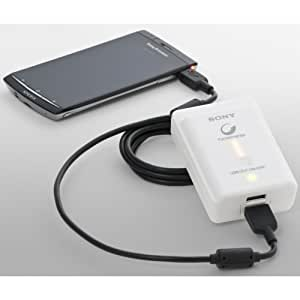 Sony CP-A2LS Chargeur Nomade Smartphone Double Slot Batterie Lithium-Ion + Câble Micro USB