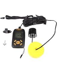Sharplace Pêche Détecteur de Poisson à Ultrasons Portable LCD Fish Finder Capteur Attirail pour Pêcheur