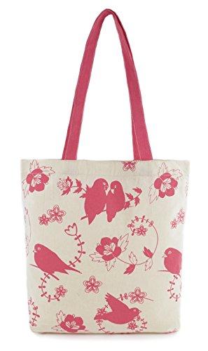 Zest–Borsone in tela di cotone stampato shopper Pink