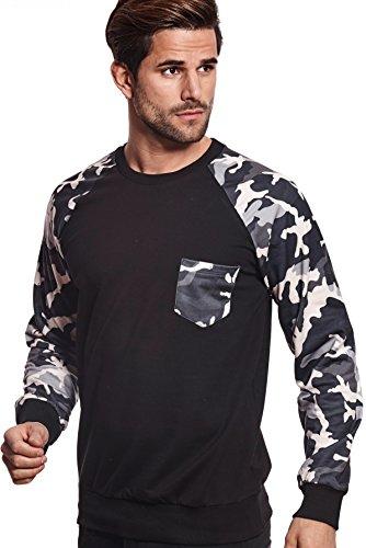 Carisma Herren Sweatshirt in verschieden Farben Black