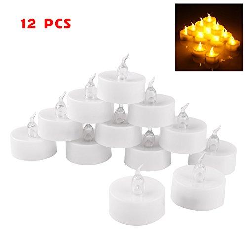 eelicht Tee Kerzenlicht Rauchlos für Halloween Xmas Party Hochzeit Kerzen Sicherheit Home Bar Dekoration (12 Stücks) ()