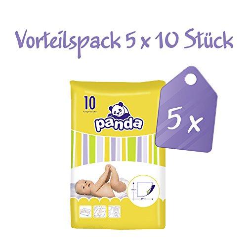 Panda Wickelunterlagen 60x60 cm, Vorteilspack (5x10 Stück), 50 Wickelunterlagen