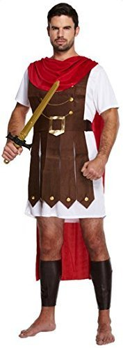 Kostüm Adult Mens - Mens Adult Roman Soldier Gladiator General Historical Fancy Dress Costume Outfit (STD)