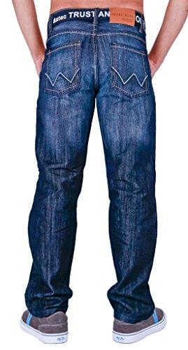 Aztèque classique pour homme avec ceinture Darkwash Lightwash Rinsewash Jeans Darkwash