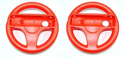 LS 2x Nintendo Wii Lenkrad Rot red Mario Kart Controller Zubehör Wheel