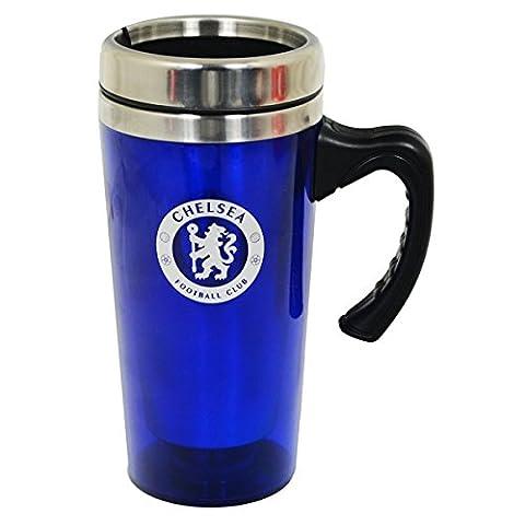Tasses de voyage officielles d'équipes de football en aluminium avec anse (vaste choix de clubs), Chelsea FC, 450ml