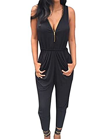 Damen Jumpsuit Mode Frauen Straps Ärmellos Normallacks One Piece Playsuits Sommer Strand Overall Shorts