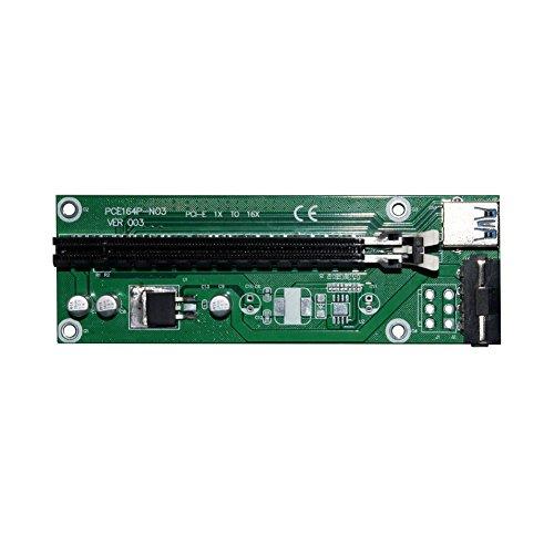 Galleria fotografica Demiawaking scheda usb 3.0PCIe PCI Express 1X a 16X Riser Extender adattatore di alimentazione SATA cavo