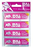 NEW BULL BRAND PINK COLOUR PACK OF 4 CUT CORNER ROLLING PAPERS