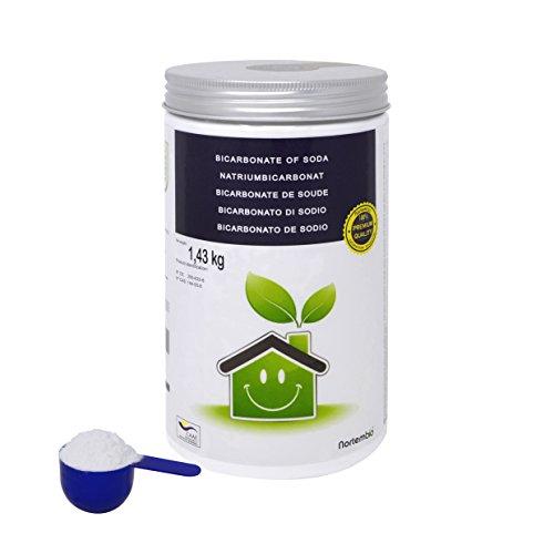 NortemBio Bicarbonato de Sodio 1.43kg, Insumo Ecológico de Origen Natural, Calidad Premium. Producto CE.