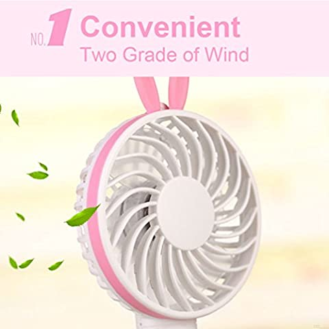 USB-Portable-FanOutdoor-Household-Fans-Fan-Outdoor-Light-USB-Powered-Accessories-USB-Rechargeable-Mini-Portable-Outdoor-Fan-with-1200mA-Battery-Handle-Desktop-for-Home-and-Travel-Rabbit-Yellow-BH88