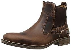 Steve Madden Nockdwn Chelsea Boot Tan Leather 7.5 D(M) US