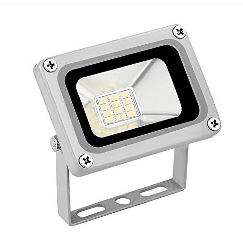10W LED Flutlicht im Freien dünnerer leichterer Entwurf Wasserdichtes IP65 kaltes Weiß (6000-6500K) Super helle Sicherheit beleuchtet geführter Scheinwerfer Überlegene Qualität Helle Beleuchtung