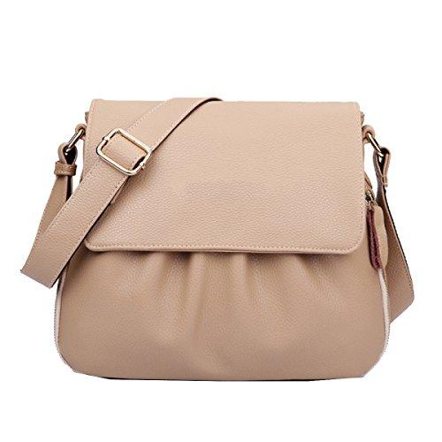 Yy.f Mode Handtaschen Lederwindeltasche Umhängetasche Mittleres Alter Reiner Leder Schulterbeutel Multicolor Blue
