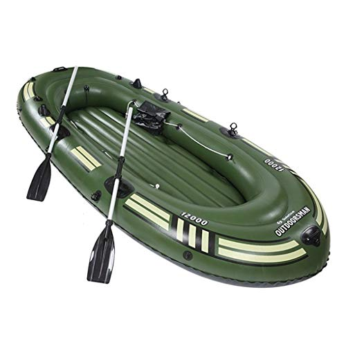 Mysida Inflatable Boat Canoa for 4 Persone con gommone for zattera Gonfiabile for Pesca Pesante con pagaia e Pompa (265 cm X 130 cm X 46 cm)
