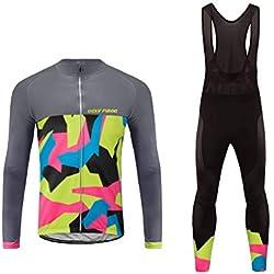 Future Sports UGLYFROG Newest Designs Ropa Conjunta de Ciclismo de Hombre - Ciclismo Maillot Jersey y Bib Pantalones Bodies Dos Piezas