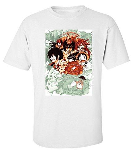 Anime mashup dope art t-shirt homme blanc (M)