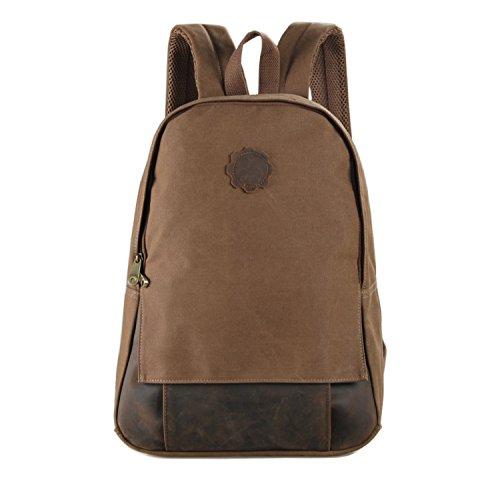 Everdoss Unisexe sac à dos en toile sac scolaire cartable sac d'ordinateur portable sac de loisirs à la mode