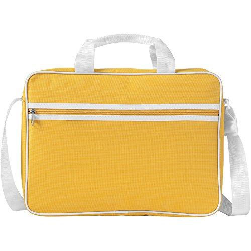 Borsa conference portacomputer 15,6'' - navy/solido bianco giallo/solido bianco