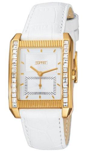 Esprit ES102362002 - Reloj analógico de cuarzo para mujer con correa de piel, color blanco