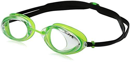 TYR Erwachsene Tracer Racing Schwimmbrillen, Schwarz/Lime, One Size (Tyr Swimwear Männer)