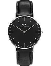 Daniel Wellington Classic Herren-Armbanduhr Analog Quarz Leder - DW00100129