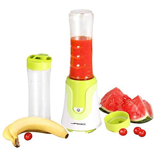 Jago Smoothie frullatore mixer cucina smoothie maker 200-300 W con 2 shaker con coperchio colore a scelta (verde)