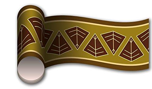 Bordüre Afrikanisches Schild als Kleisterbordüre und Vliesbordüre 260x15cm | Vlies